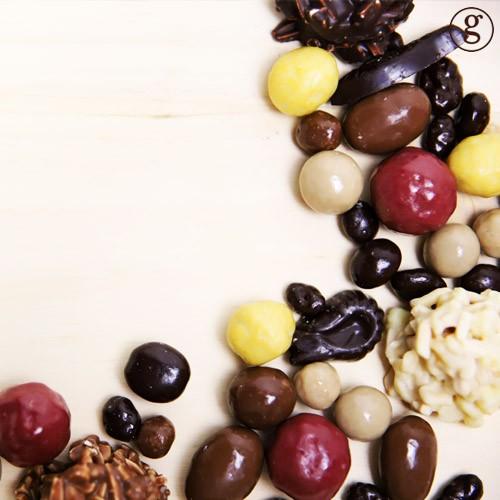 Réglette de bonbons chocolat