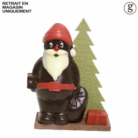 Père Noël en forêt (chocolat noir)