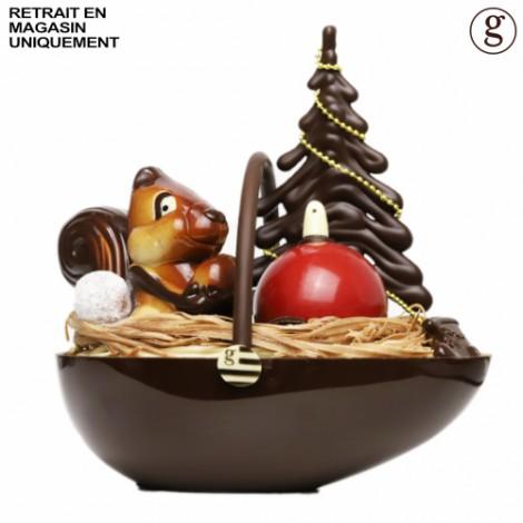 Grand panier de Noël (chocolat noir)